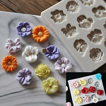 Silicone Chocolate Mould Flower Shape Fondant Baking Making Mold Cake Decorating