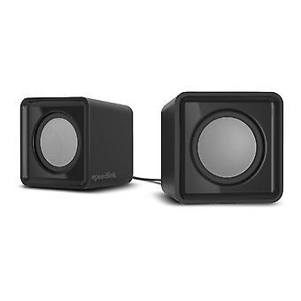 Haut-parleurs stéréo twoxo alimentés par USB avec contrôle du volume intégré, prise jack stéréo 3,5 mm, RMS 5W