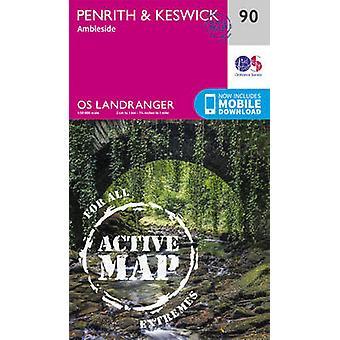 OS Landranger Active Map 90 Penrith  Keswick OS Landranger Map