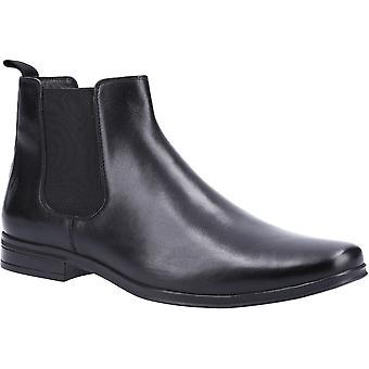 هش الجراء الرجال برايس زلة على الأحذية الجلدية تشيلسي الكاحل