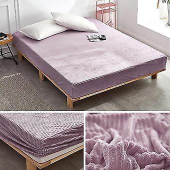 Flannel Bed Sheet Velvet Linen With Elastic Winter Warm Fleece Fitted Sheet