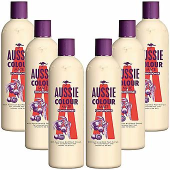 Aussie Colour Mate med australiensisk vild persika balsam 400ml pack av 6