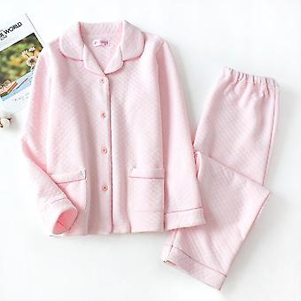 New Autumn And Winter Pajamas Ladies Pure Cotton With Long Sleeves Thi