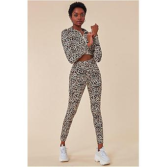 Cosmochic Leopard Print Tracksuit With Gloves - Leopardprint