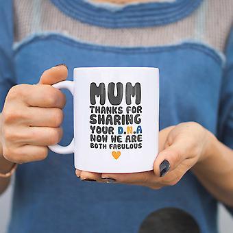 Moeder Bedankt voor het delen van uw DNA keramische mok Cup schattig moeders dag giften voor mamma