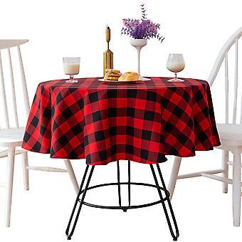 Rot und schwarz karierte Tischdecke Partydekoration runde Tischdecke