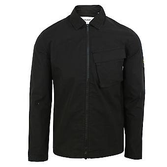 Lyle & scott men's jet black pocket overshirt
