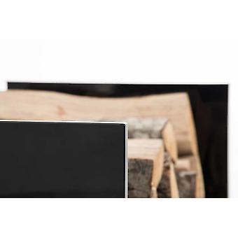 Stand de bois de chauffage - Moderne - Noir