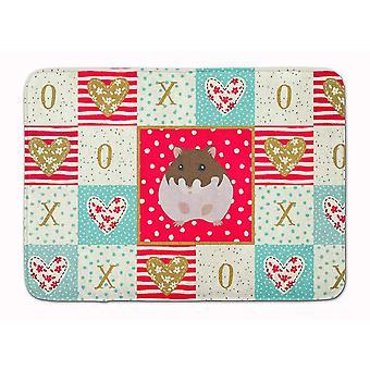 Bath mats rugs dzungarian hamster love machine washable memory foam mat
