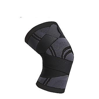Supports braces sports pressurised knee protective brace pads m black