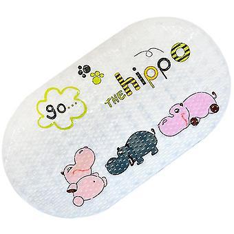 Sarjakuva liukastumisenestomatto kylpyhuoneen kylpyammetyyny vauvan taaperoille (69 * 39cm)