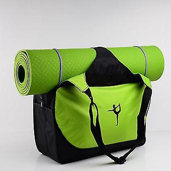 Multifunktionell vattentät skandinavisk stil kläder yoga väska (Grön)