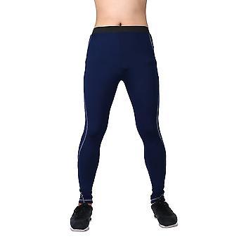Mens Sport Tight Slim Running Pants Long Leggings Thermal Under Trousers