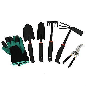 Evago Evago 6 stk hage verktøysett ny for hagearbeid verktøy kit for graving, planting og beskjæring, hagearbeid håndverktøy, ideelle hage gaver for menn, Wom