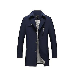 Men's Casual Trenchcoat Single Breasted Classic Overcoat Business Jacke