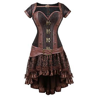Steampunk Corset Top Vintage Korzet šaty Gotické Bustier Top Body Shapewear Ženy Waist Trainer Halloween Kostým Oceľ vykostený