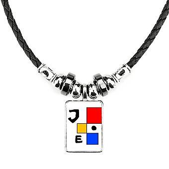 Americký zástupca Joe Farebný štvorcový náhrdelník
