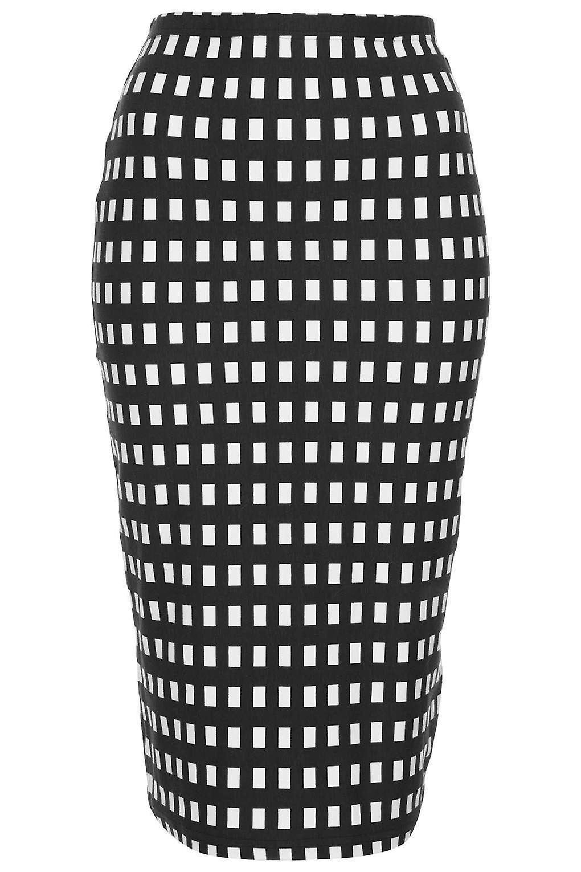 نسيج مخطط، الأسود أنبوب تنورة المملكة المتحدة حجم 4