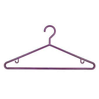 1x3 Purple Plastic Hangers 43cm made in UK for Caraselle