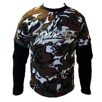 Jungen Doppel Schicht Army Fleece-Sweatshirt