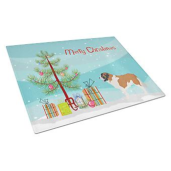 Moscow Watchdog Christmas Glass Cutting Board Large