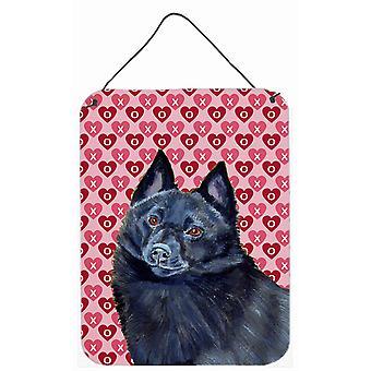 Schipperke Herzen Liebe Valentinstag Wand oder Tür hängen drucken
