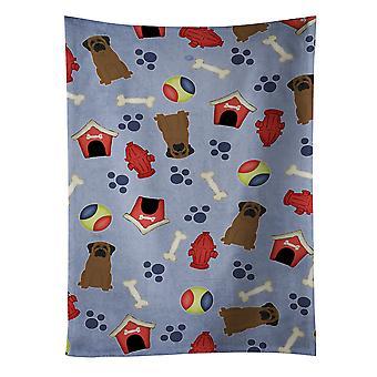 Carolines skarby BB2697KTWL Dog House kolekcja Bullmastiff Ręcznik kuchenny