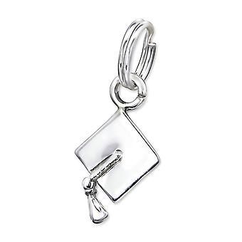 Graduation Hat - 925 Sterling Silver Charms With Split Ring - W29292x