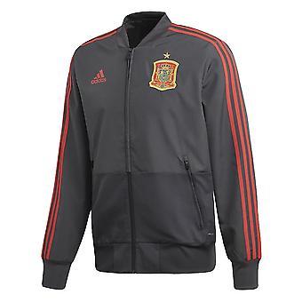2018-2019 Spania Adidas prezentare jacheta (gri solid)
