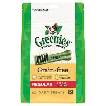 Greenies grão Regular tratamento gratuito Pk340g