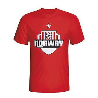 Noruega país Logo camiseta (rojo) - niños