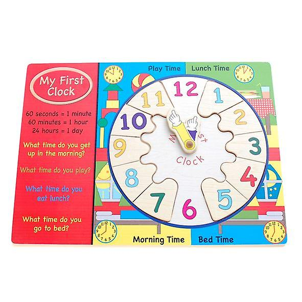 My First Clock Wooden Toy
