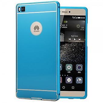 Alu מחבט 2 חתיכת עם כחול לכסות Huawei Ascend P8