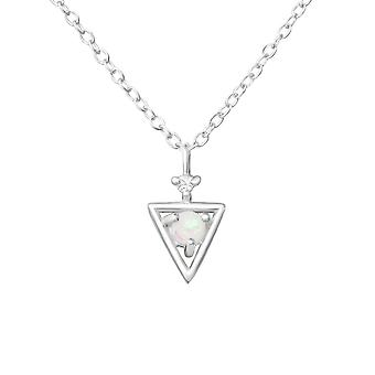 Triangle - 925 Sterling Silver Jewelled Necklaces - W37635X