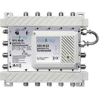SAT Multischalter Axing SPU 56-09 Eingänge (Multischalter): 5 (4 SAT/1 Terrestrial) Nr. Mindestteilnehmerzahl pro Kurs: 6 Standby-Modus, Quad LNB kompatibel