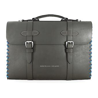 Anchor & Crew Small Falcon Grey Rufford Leather and Rope Briefcase