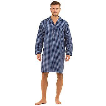 Haigman Mens Printed 100% Cotton Nightshirt Sleepwear