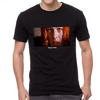 The Fifth Element Please Help Quote Men's Black T-shirt