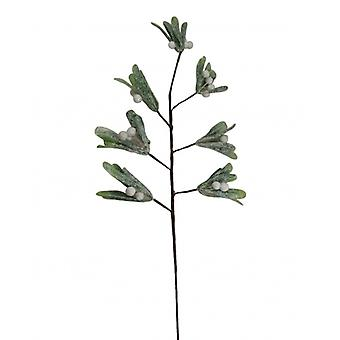 Gisela Graham Frosted Christmas Mistletoe Branch