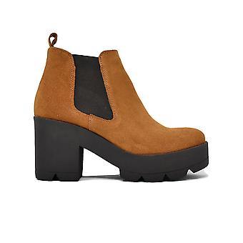 Liberitae booties booty Chelsea platform suede leather 21803335-03