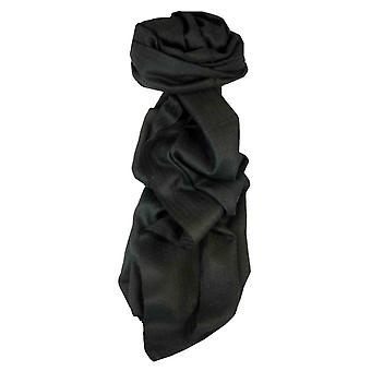 MENS Fine Cashmere Scarf Black by Pashmina & Silk
