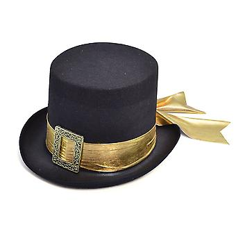 Top Hat, Black with Gold Belt