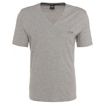 Boss T-Shirt de coton Stretch col v Premium, Marl gris