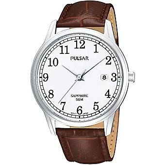 Pulsar Watches PS9055X1-men's wristwatch, leather, color: Brown