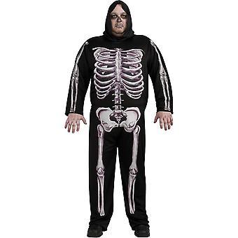 Skeleton 3 D Plus Size Adult Costume