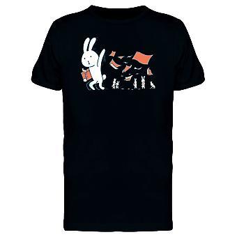 Kaninchen werfen rote Papiere T-Shirt Herren-Bild von Shutterstock