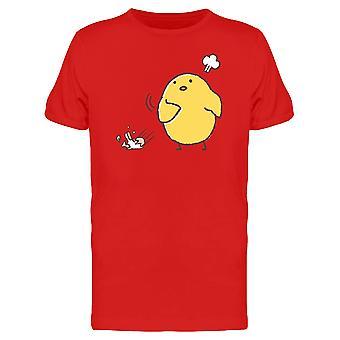 Lustiges Huhn werfen Eier T-Shirt Herren-Bild von Shutterstock