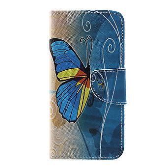 Samsung Galaxy S10e Portefeuille Case-Blue Butterfly