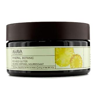 Ahava Mineral Botanic Velvet Body Butter - Tropical Pineapple & White Peach - 235g/8oz