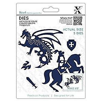 Xcut Dies Knight & Dragon (5pcs) (XCU 503343)